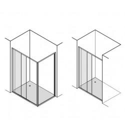 porte de douche coulissante de 140 cm de large banio salle de bain. Black Bedroom Furniture Sets. Home Design Ideas