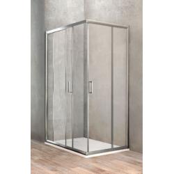 Ponsi Paroi de douche rectangulaire avec porte coulissante 100x120 cm