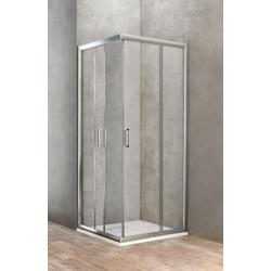 Ponsi paroi de douche carr avec porte coulissante 80x80 cm banio - Paroi de douche avec porte coulissante ...