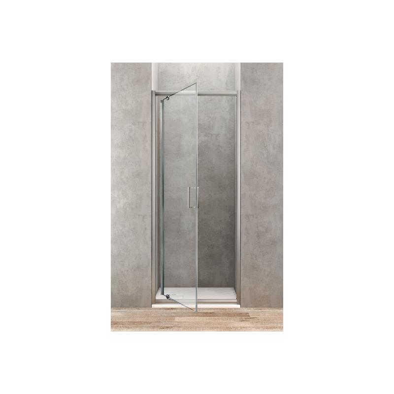 ponsi porte de douche pivotante de 90 cm banio salle de bain. Black Bedroom Furniture Sets. Home Design Ideas