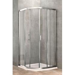 ponsi paroi de douche quart de ronde de 90x90 cm banio salle de bain. Black Bedroom Furniture Sets. Home Design Ideas