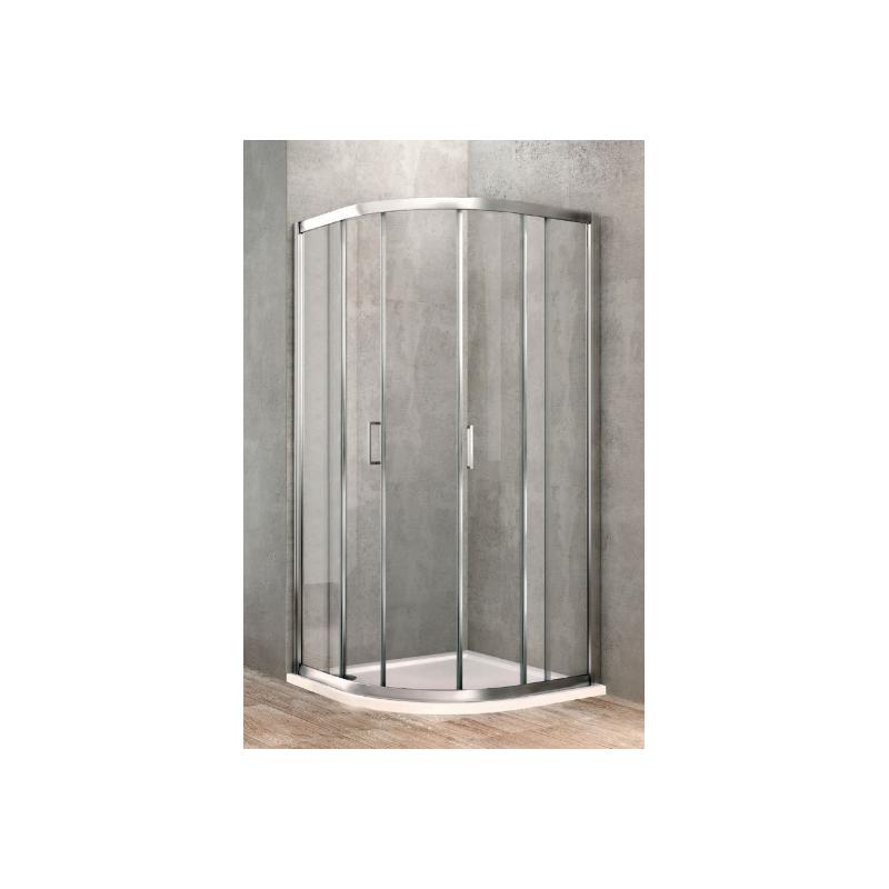Ponsi paroi de douche quart de ronde de 90x90 cm banio salle de bain - Paroi de douche quart de rond ...