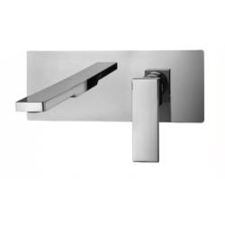 Mitigeur lavabo encastrer complet avec bec 20 cm et plaque rectangulaire