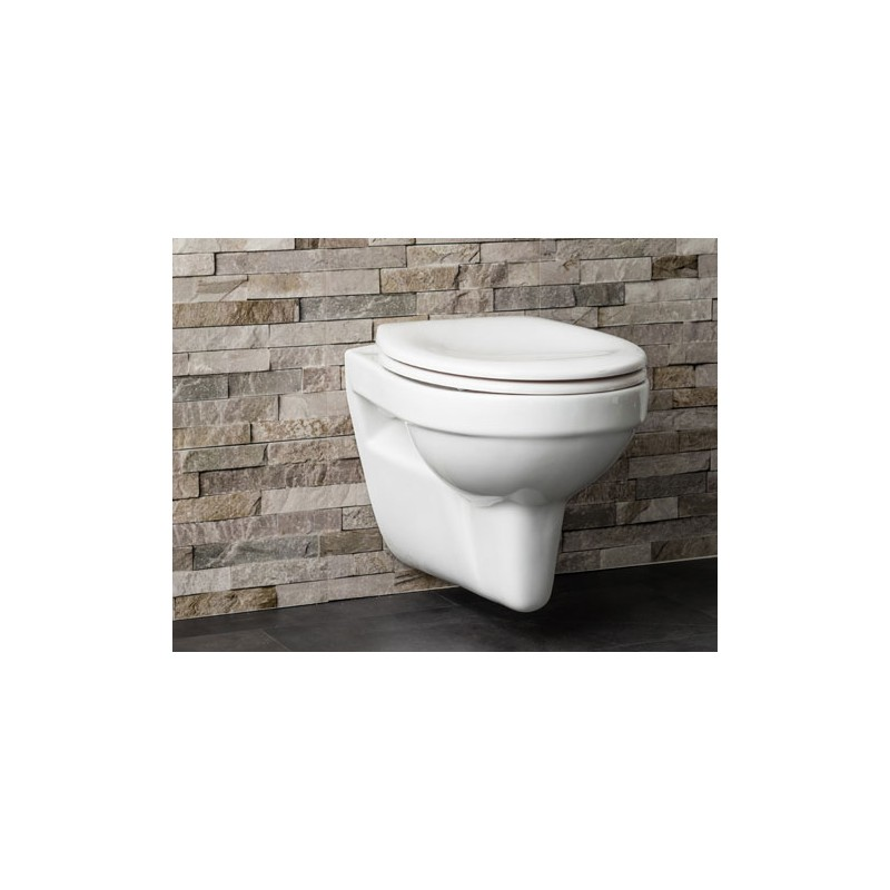 toilette suspendue helga sans bride blanc banio salle de. Black Bedroom Furniture Sets. Home Design Ideas
