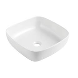 Design Anubit Opbouw wastafel Vierkant 405 - Wit