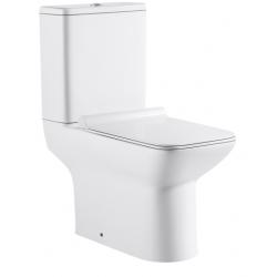Design Ika Staand toilet vierkant met horizontale uitgang - Wit