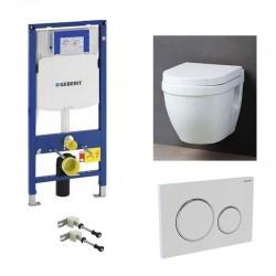 Geberit up320 Pack WC suspendu avec abattant soft-close et set de fixation complet