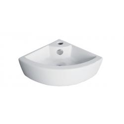 Banio Design Hero Handenwasser hoekmodel in porselein - Wit