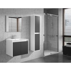 Banio Design Felino Meuble salle de bain complet - Blanc/Gris