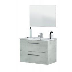 Banio Design Floor Meuble salle de bain 80 cm - Couleur Béton