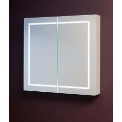 Banio Armoire à miroir avec 2 portes et l'éclairage LED