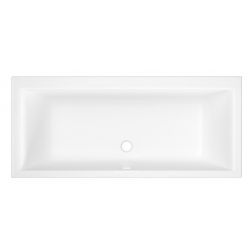 Banio Aristas Baignoire rectangulaire en acrylique 170x75 cm - Blanc