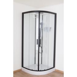 Banio Pedra Cabine de douche 90x90x224 cm - Noir/Blanc