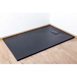 Banio Moba Receveur de douche en SMC 140x90 cm - Noir mat