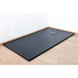Banio Moba Receveur de douche en SMC 160x90 cm - Noir mat