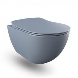 Banio wc suspendu rimless avec fonction bidet - Basalt (gris) mat