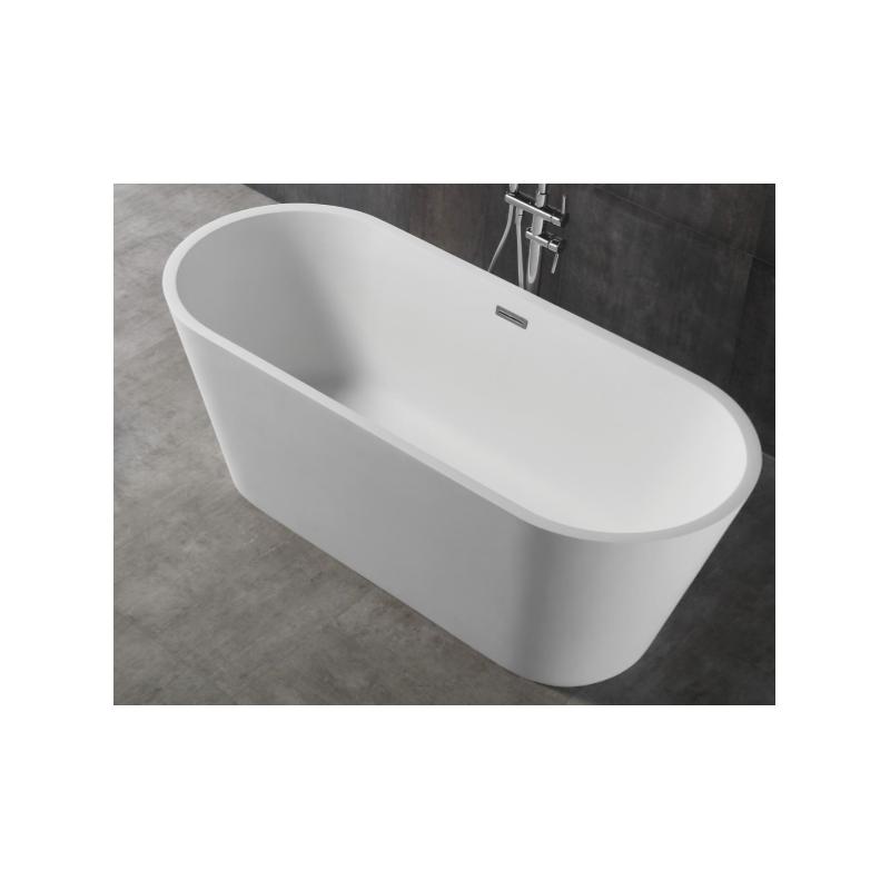 Banio Lino Baignoire Ilot Solid Surface 170x70 Cm Blanc Banio