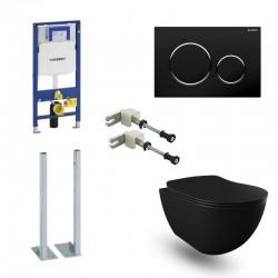 Geberit Pack Banio Design wc suspendu noir mat avec Duofix Sigma systemfix et touche Noir Complet