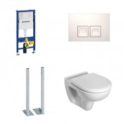 Geberit autoportant Set toilette suspendu Blanc avec UP100 duofix et abattant softclose