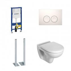 Geberit autoportant Pack toilette suspendue Ideal standard complet touche blanche soft-close