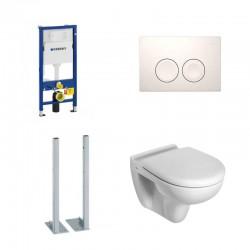 Geberit autoportant Pack wc toilette suspendue ideal standard complet touche blanche