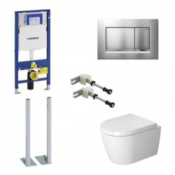copy of Geberit Pack Duravit Me by Starck hangtoilet met systemfix en mat chrome toets Sigma30