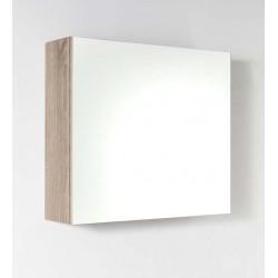 Armoire murale avec miroir Nado chêne 60x53cm