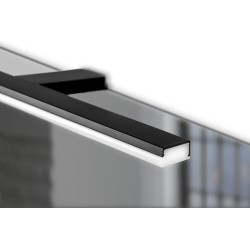 Eclairage de salle de bain Pandor noir 458mm
