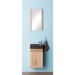 Armoire sous-lavabo Janka chêne naturel 38,8x60cm