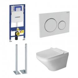 Geberit autoportant Duravit durastyle rimless et durafix pack WC suspendue - Plaque de commande Blanc