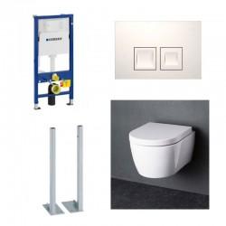 Geberit vrijstaande Set Hangtoilet Wit compact met softclose zitting compleet