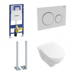 Geberit autoportant Pack avec Villeroy & Boch O.novo Combipack Blanc Directflush