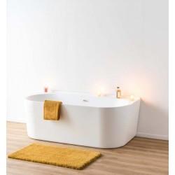 Banio baignoire murale Halse 170x80x59cm blanc mat