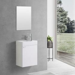 Banio meuble toilette complet  blanc