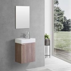 Banio meuble toilette complet brun