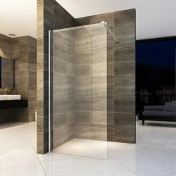 Banio paroi de douche avec verre securit 8mm 100x200cm
