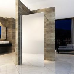 Banio paroi de douche avec verre securit 8mm 120x200cm - verre miroir