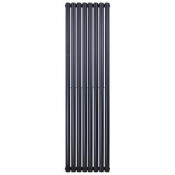 Banio ovaal verticaal designradiator single - 180x47,2cm 790w mat zwart