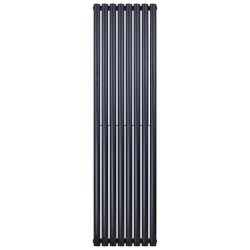 Banio radiateur ovale design vertical simple - 180x47,2cm 790w noir mat