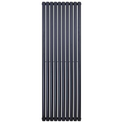 Banio ovaal verticaal designradiator single - 180x59cm 988w mat zwart