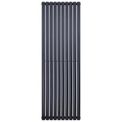 Banio radiateur ovale design vertical simple - 180x59cm 988w noir mat