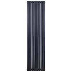 Banio ovaal verticaal designradiator double - 180x35,4cm 1230w mat zwart