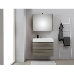 Pelipal meuble de salle de bain avec armoire miroir Bali80 - graphite