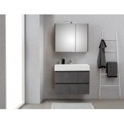 Pelipal meuble de salle de bain avec armoire miroir Bali80 - gris foncé