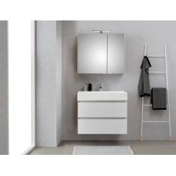 Pelipal meuble de salle de bain avec armoire miroir Bali80 - blanc