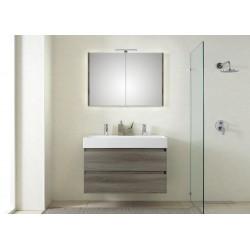 Pelipal meuble de salle de bain avec armoire miroir Bali101 - graphite