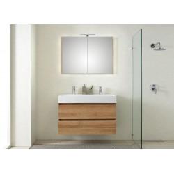 Pelipal meuble de salle de bain avec armoire miroir Bali101 - chêne clair