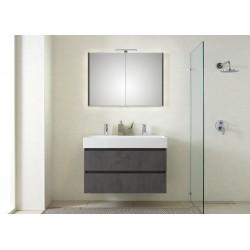 Pelipal meuble de salle de bain avec armoire miroir Bali101 - gris foncé