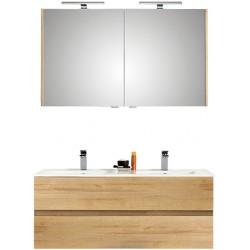 Pelipal meuble de salle de bain avec armoire miroir Cento120 - chêne clair