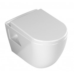 Banio WC suspendu design avec fonction bidet et abattant soft-close - blanc